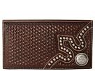 M&F Western Embossed Tab Rodeo Wallet (Brown)