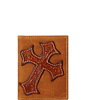 M&F Western - Large Tooled Cross Overlay Bi-Fold Money Clip