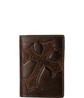 M&F Western - Large Tooled Cross Overlay Rodeo Card Holder