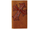 M&F Western Large Tooled Cross Overlay Rodeo Wallet