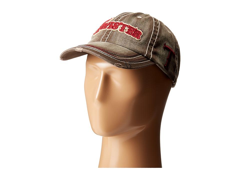 MampF Western Twister Ball Cap Gray Caps