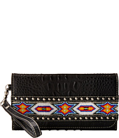 M&F Western - Southwest Beaded Ribbon Wristlet Wallet