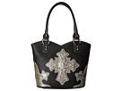 M&F Western Ornamet Cross Boottop Handbag (Black)