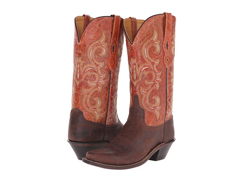 Old West Boots LF1543 - Brown Truffle/Antique Waxy Red