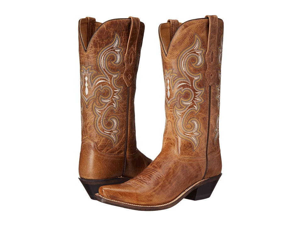 Old West Boots - LF1541 (Tan Fry) Cowboy Boots