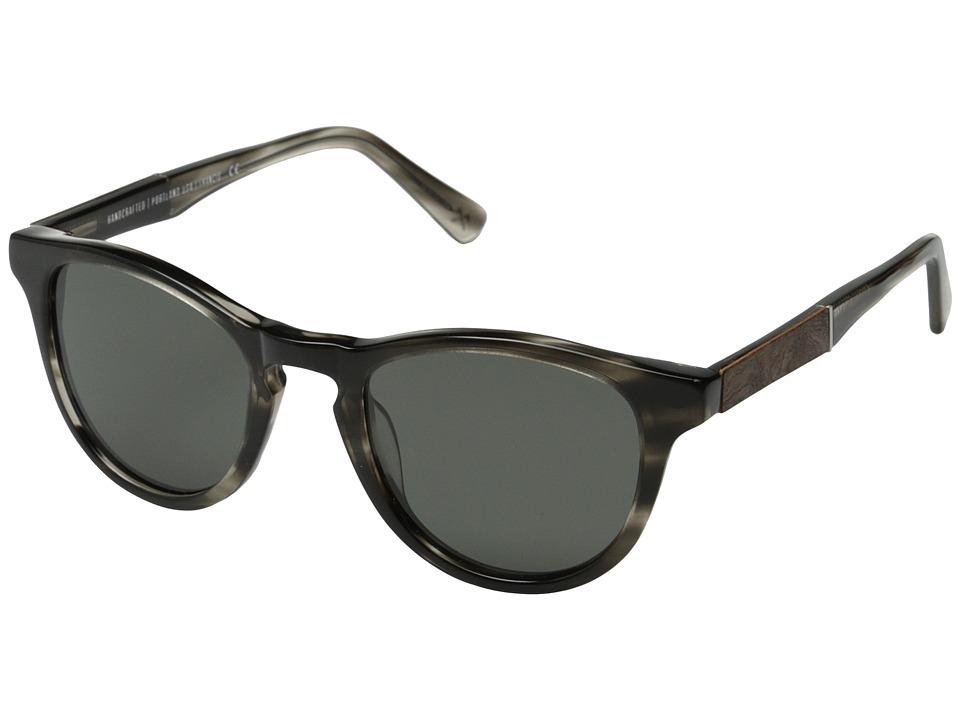 Shwood - Francis Fifty-Fifty - Polarized (Pearl Grey/Elm Burl/Grey Polarized) Fashion Sunglasses