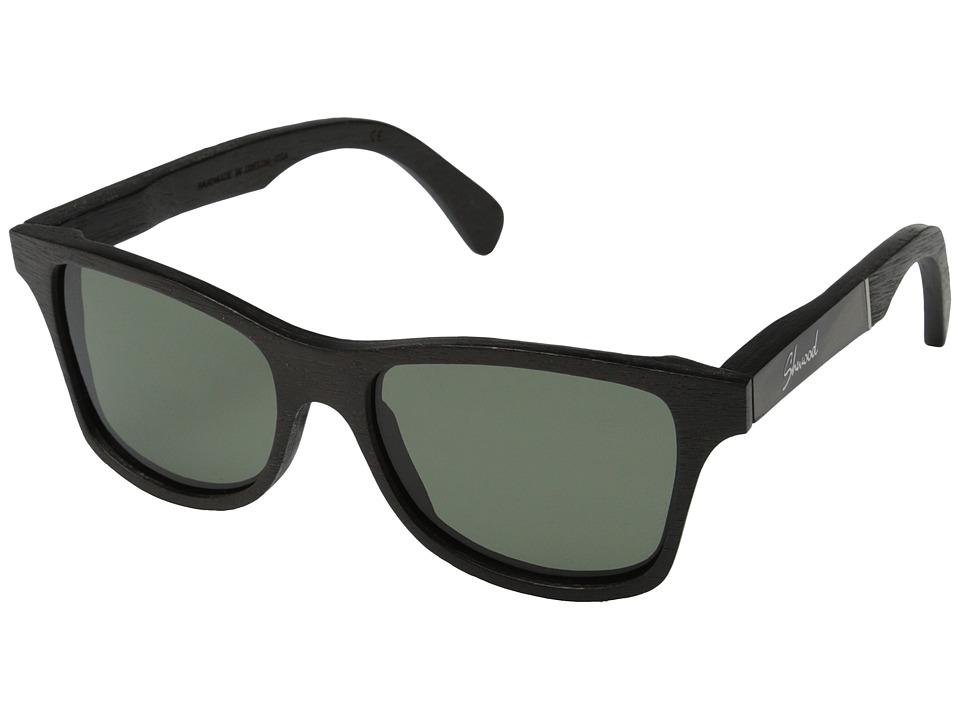 Shwood Canby Polarized Dark Walnut/Pearl Grey Inlay/G15 Polarized Sport Sunglasses