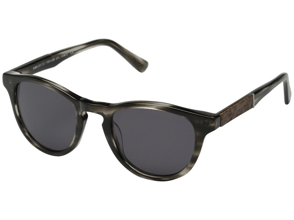 Shwood Francis Fifty Fifty Pearl Grey/Elm Burl/Grey Fashion Sunglasses