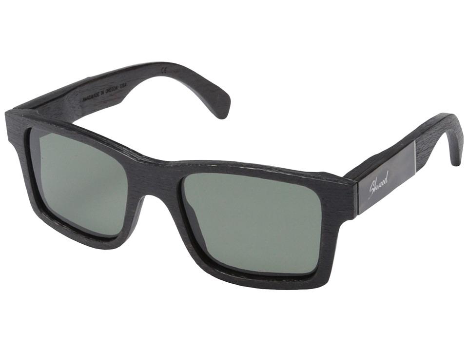 Shwood Haystack Polarized Dark Walnut/Pearl Grey Inlay/G15 Polarized Sport Sunglasses