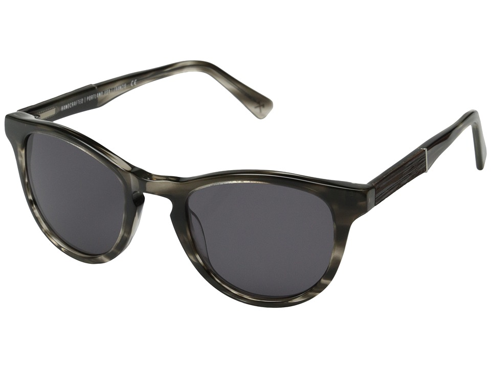 Shwood Francis Fifty Fifty Pearl Grey/Ebony/Grey Fashion Sunglasses