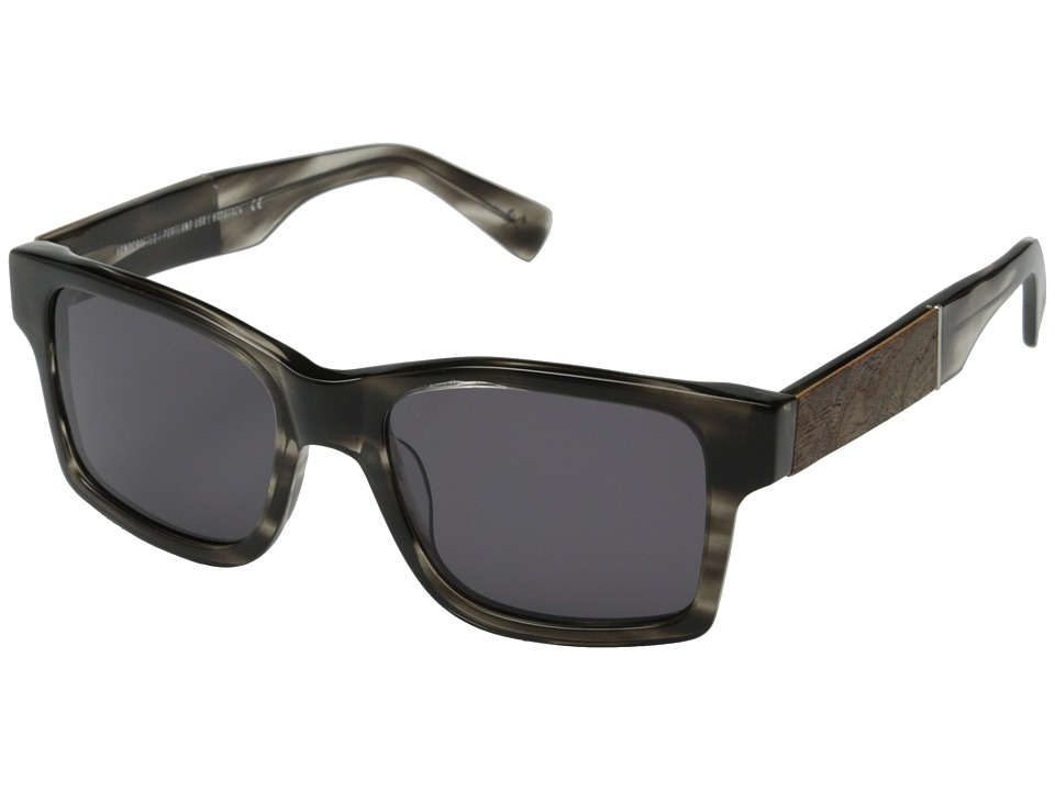 Shwood Haystack Fifty Fifty Pearl Grey/Elm Burl/Grey Sport Sunglasses