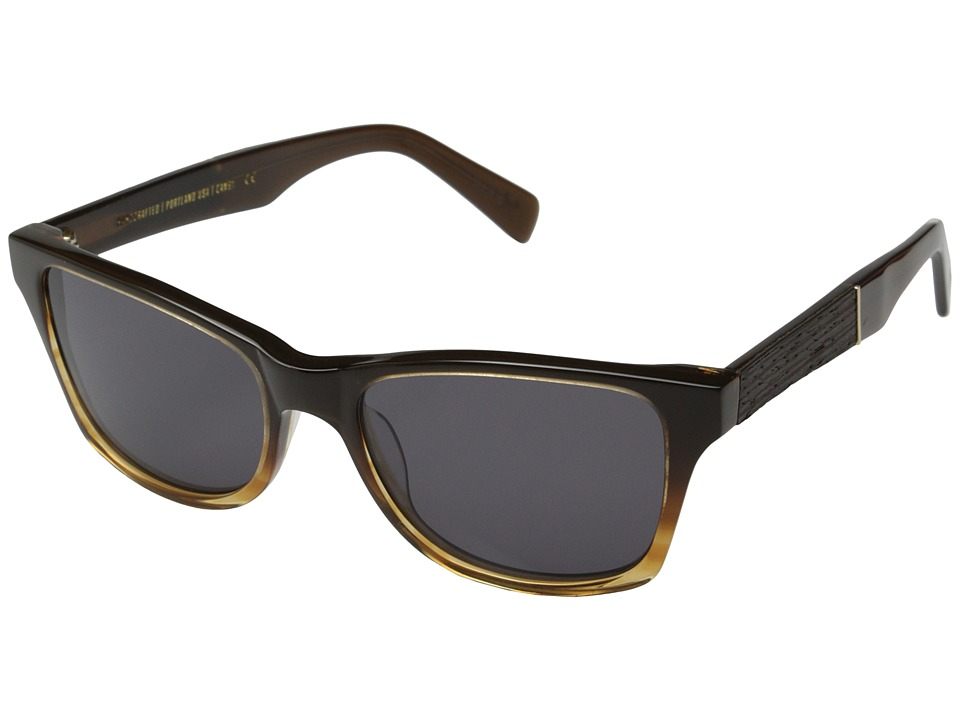 Shwood Canby Fifty Fifty Sweet Tea/Ebony/Grey Sport Sunglasses