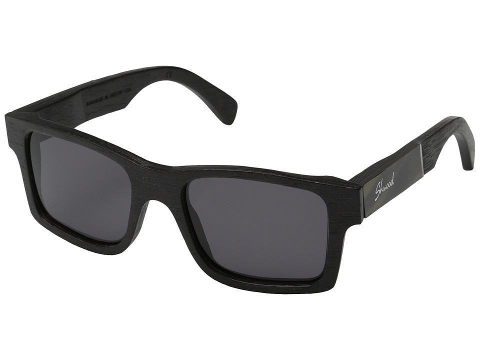Shwood Haystack Dark Walnut/Pearl Grey Inlay/Grey Sport Sunglasses