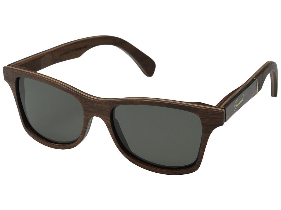 Shwood Canby Polarized Walnut/Tortoise Inlay/Grey Polarized Sport Sunglasses