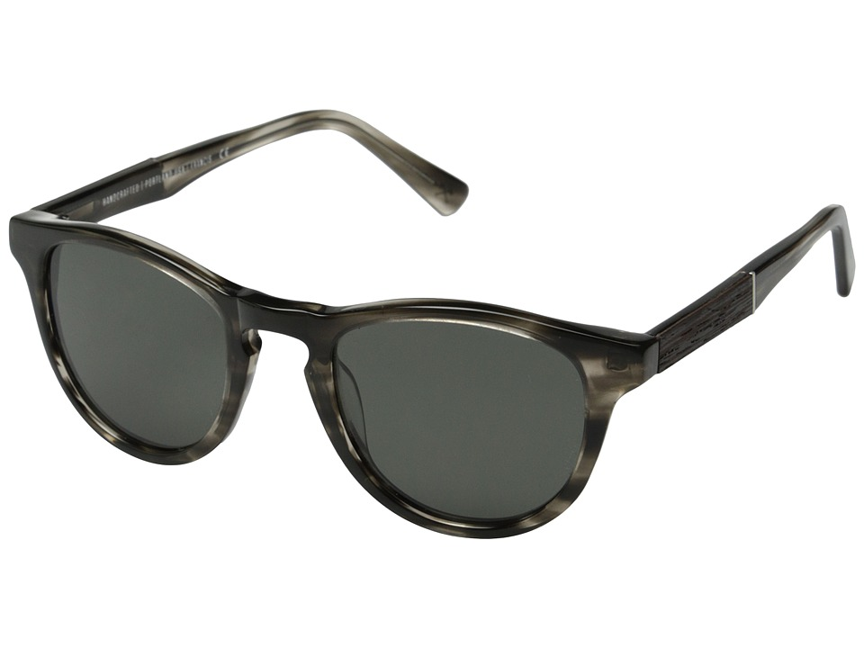 Shwood Francis Fifty Fifty Polarized Pearl Grey/Ebony/Grey Polarized Fashion Sunglasses