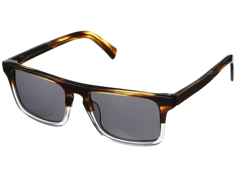 Shwood Govy 2 Whiskey Soda/Mahogany Burl/Grey Sport Sunglasses