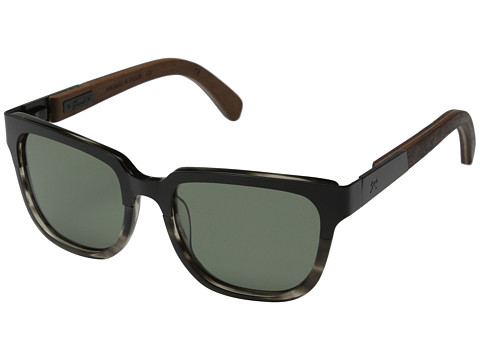 Shwood Prescott Titanium - Polarized - Black Titanium/Pearl Grey/Walnut/G15 Polarized