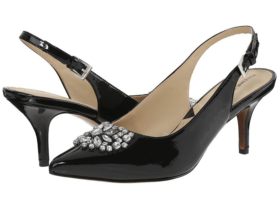 Adrienne Vittadini - Surya Black Crinkle Patent Womens Shoes $99.00 AT vintagedancer.com