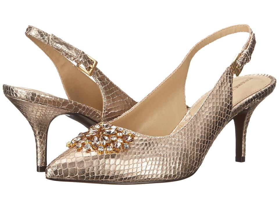 Adrienne Vittadini - Surya Champagne Snake Print Womens Shoes $99.00 AT vintagedancer.com