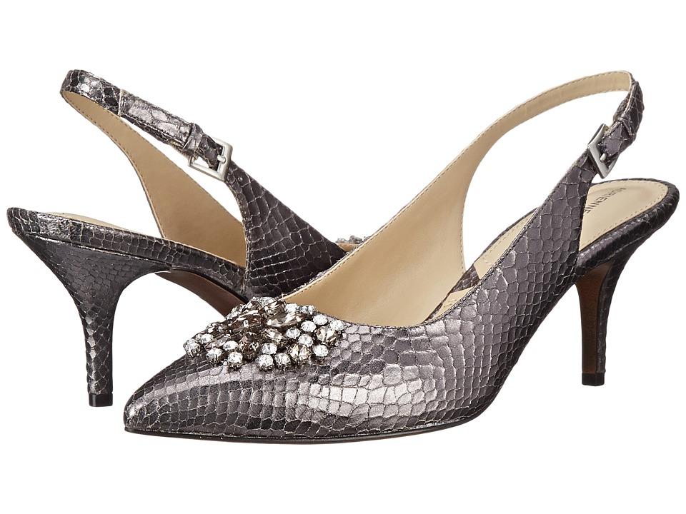 Adrienne Vittadini - Surya Pewter Snake Print Womens Shoes $99.00 AT vintagedancer.com