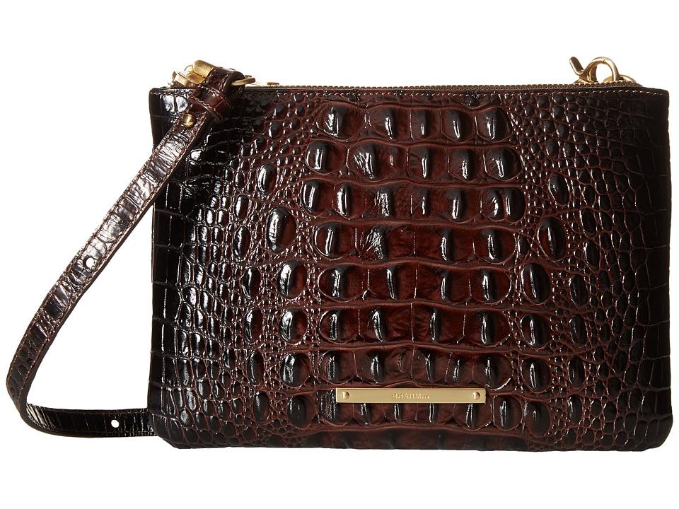 Brahmin Perri Crossbody Cocoa Cross Body Handbags