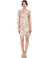 Aidan Mattox - Long Sleeve Beaded Lace Cocktail Dress