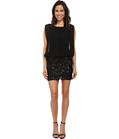 Aidan Mattox - Beaded Lace Skirt Dress w/ Blouson Top