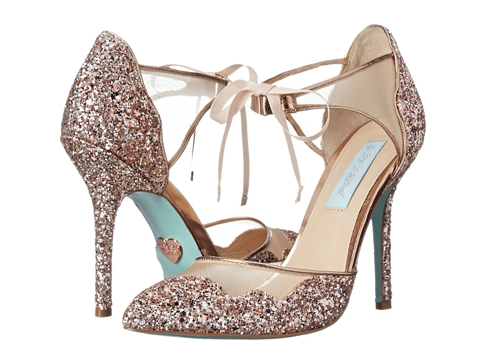 Blue by Betsey Johnson Stela (Champagne Glitter) High Heels