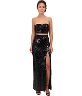 Aidan Mattox - Strapless Sequin Crop Top Gown