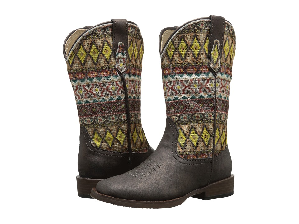Roper Kids Aztec Toddler/Little Kid Brown Cowboy Boots