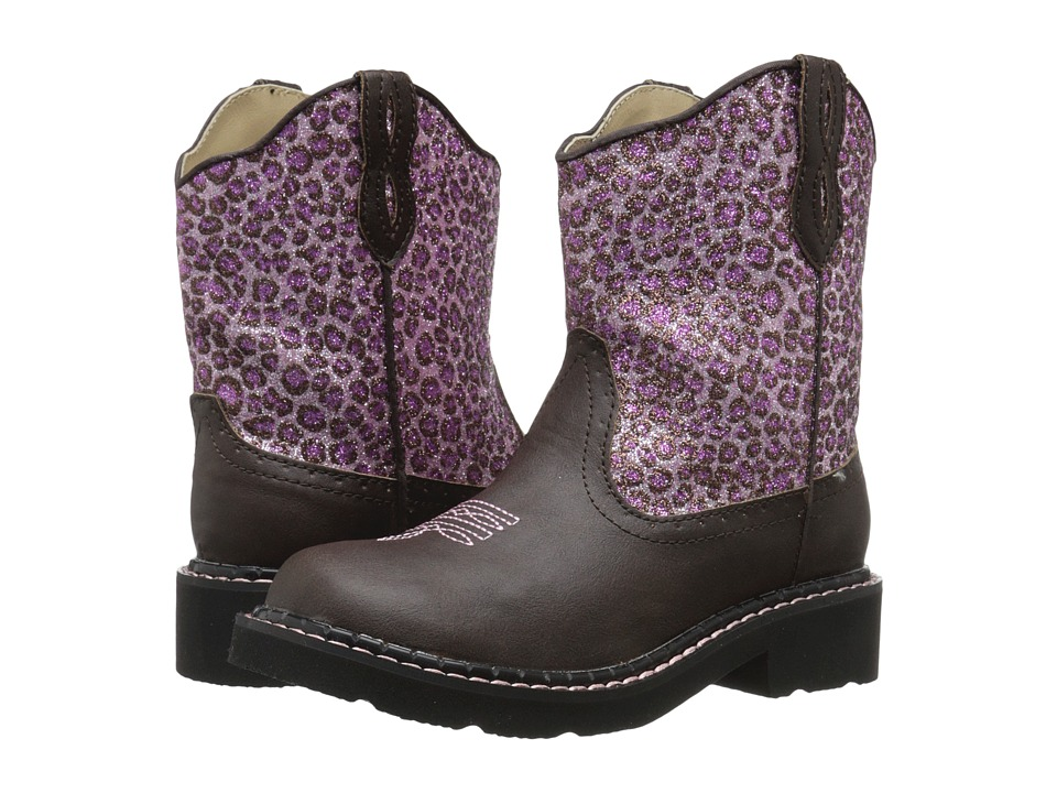 Roper Kids Cheetah Toddler/Little Kid Pink Cowboy Boots
