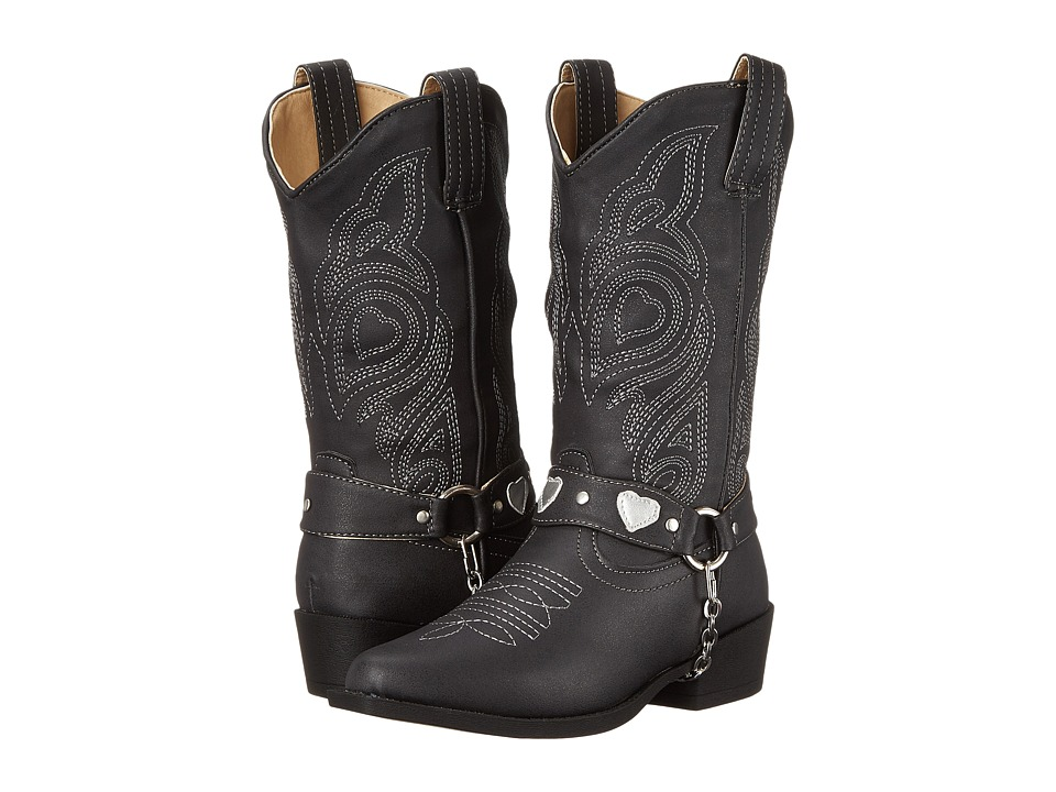 Roper Kids - Dale (Toddler/Little Kid) (Black) Cowboy Boots