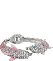 Betsey Johnson - Ocean Drive Pink Crystal Dolphin Hinge Bracelet