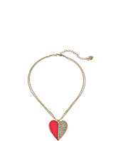 Betsey Johnson - Casino Royale Crystal Heart Pendant Necklace