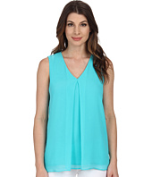 Calvin Klein - Sleeveless V-Neck Chiffon Top