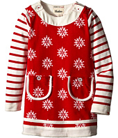Hatley Kids - Button Neck Dress - Falling Snowflakes (Toddler/Little Kids/Big Kids)