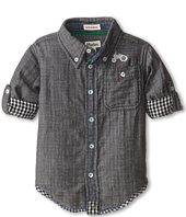 Hatley Kids - Plaid Button Shirt - Farm Tractor (Toddler/Little Kids/Big Kids)