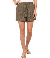 Dylan by True Grit - Navajo Lace Drawstring Shorts with Lining