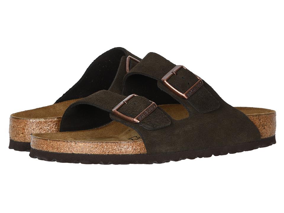Birkenstock - Arizona - Suede (Unisex) (Mocha Suede) Sandals