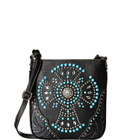 M&F Western - Turquoise Beaded Cross Crossbody