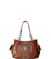 M&F Western - Turquoise Beaded Cross Satchel
