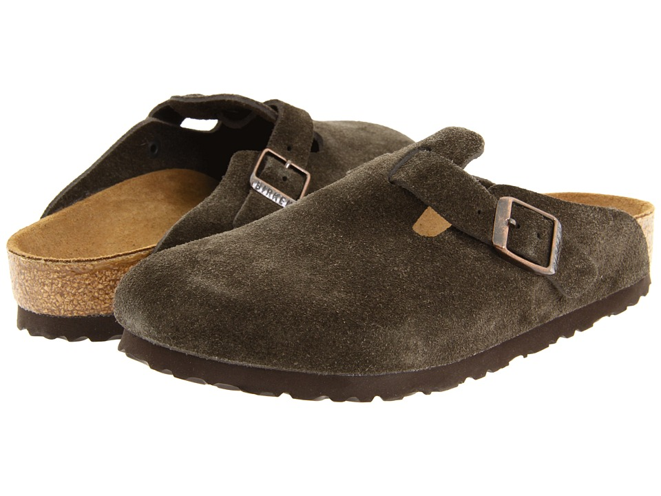 Birkenstock - Boston Suede (Unisex) (Mocha Suede) Clog Shoes