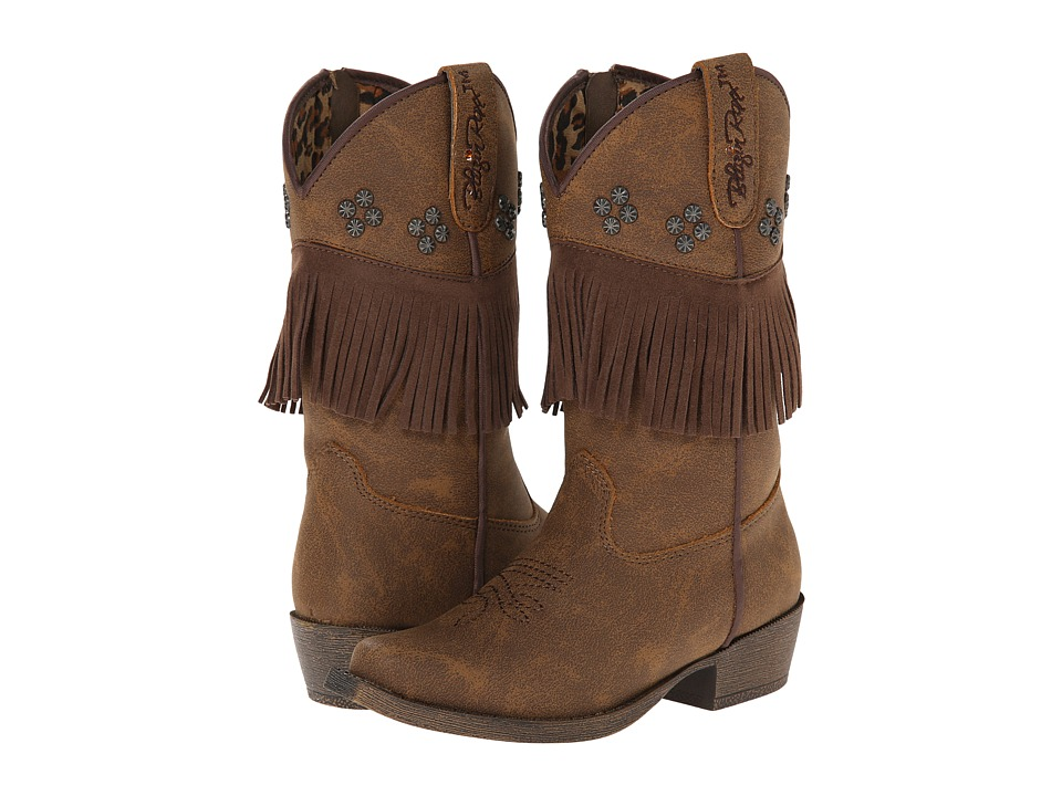Blazin Roxx Annabelle Zip (Toddler) (Brown) Cowboy Boots