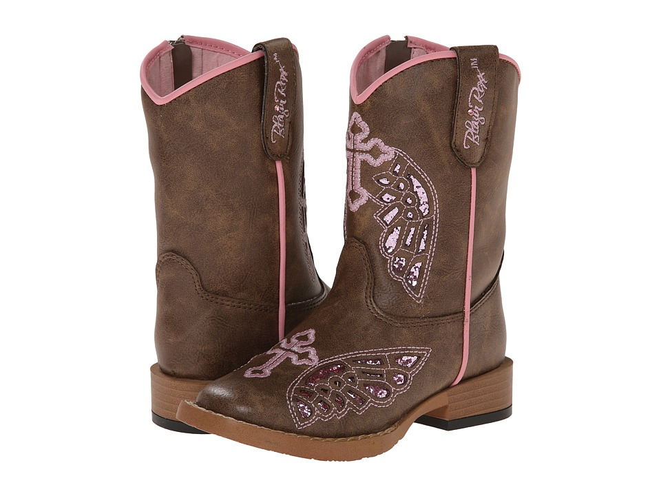 M&F Western - Gracie Zip (Toddler) (Brown) Cowboy Boots