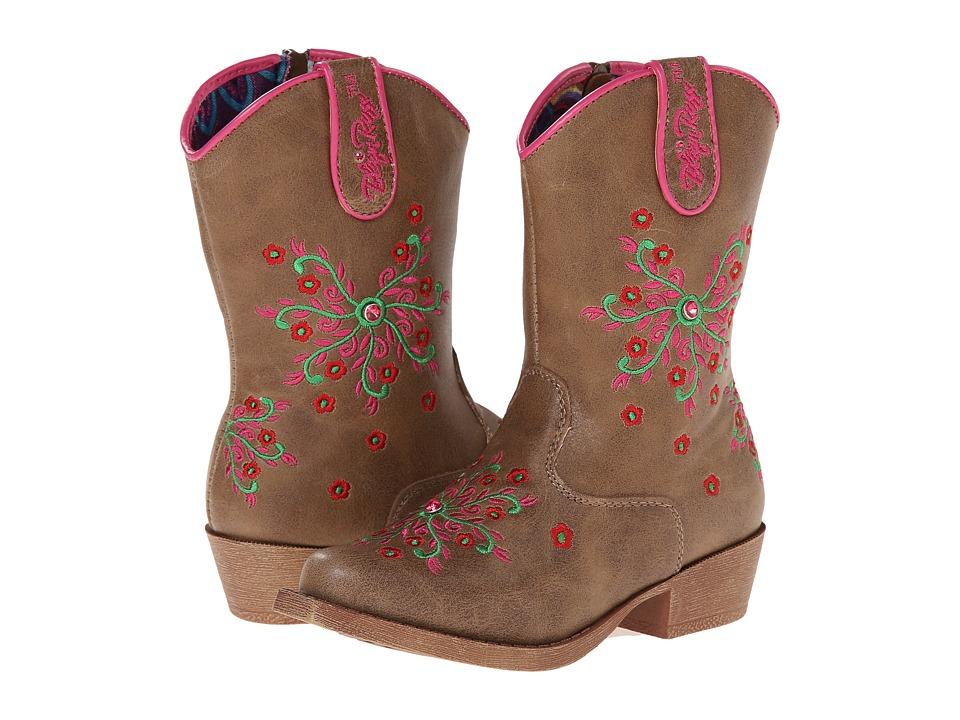Blazin Roxx Savvy Zip (Toddler) (Brown) Cowboy Boots