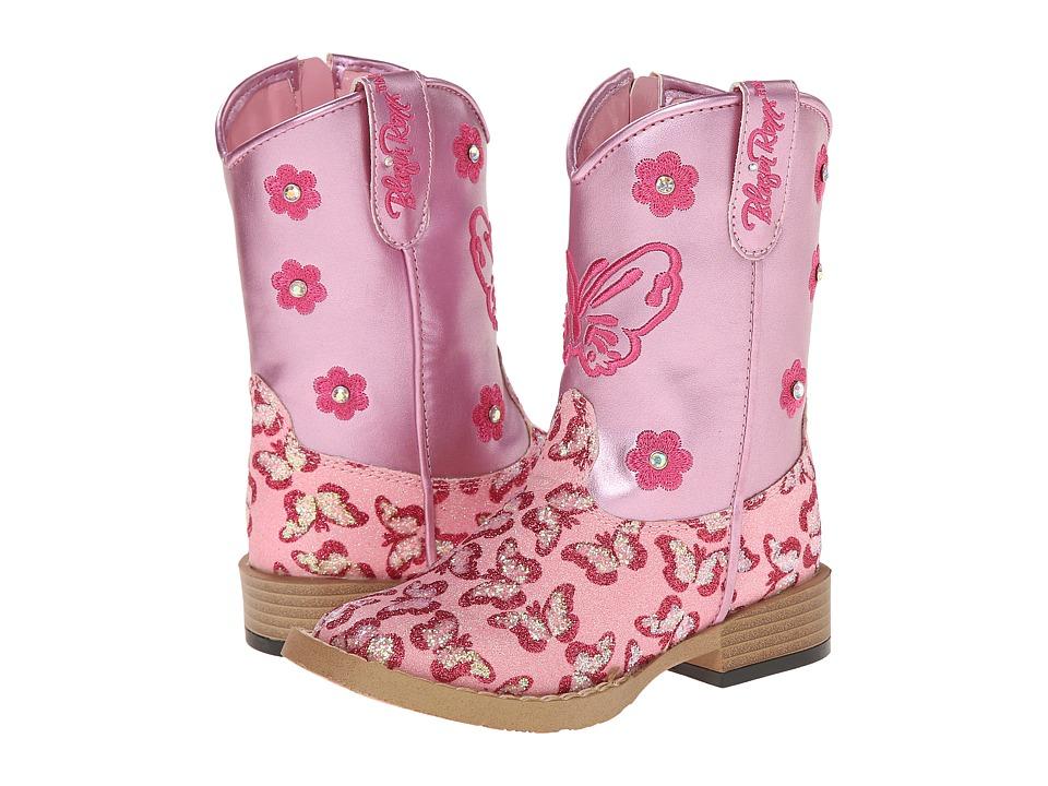 Blazin Roxx Pecos Zip (Toddler) (Pink) Cowboy Boots