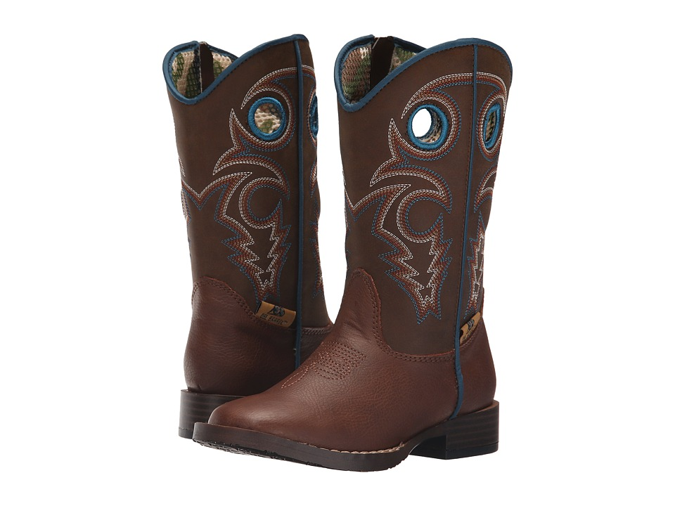 Blazin Roxx Dylan Zip (Toddler) (Brown) Cowboy Boots