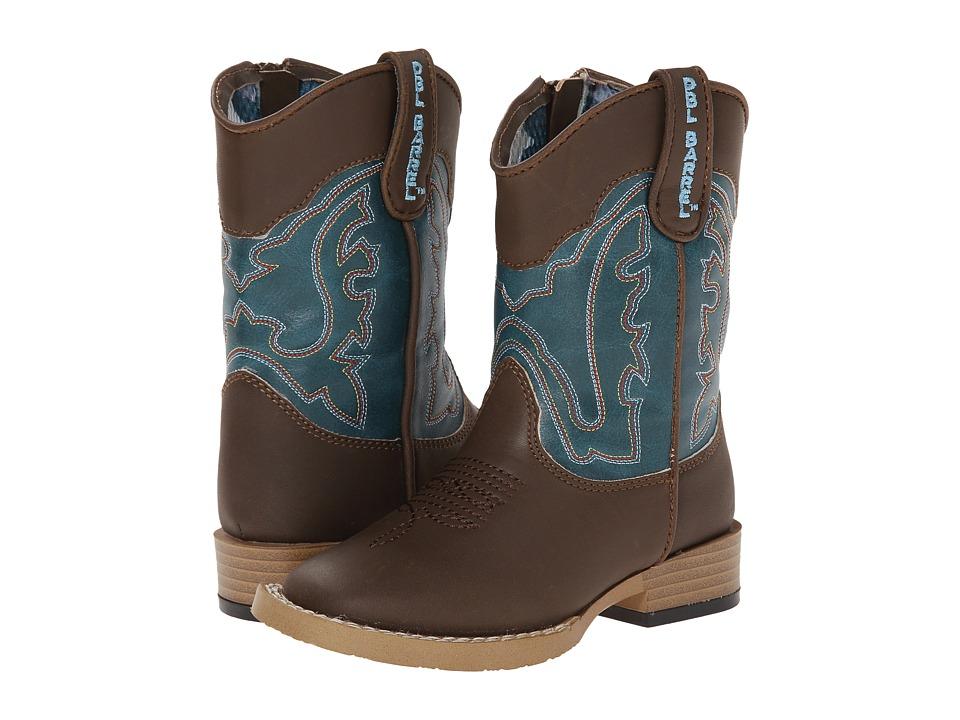 Blazin Roxx Open Range (Toddler) (Brown/Turquoise) Cowboy Boots