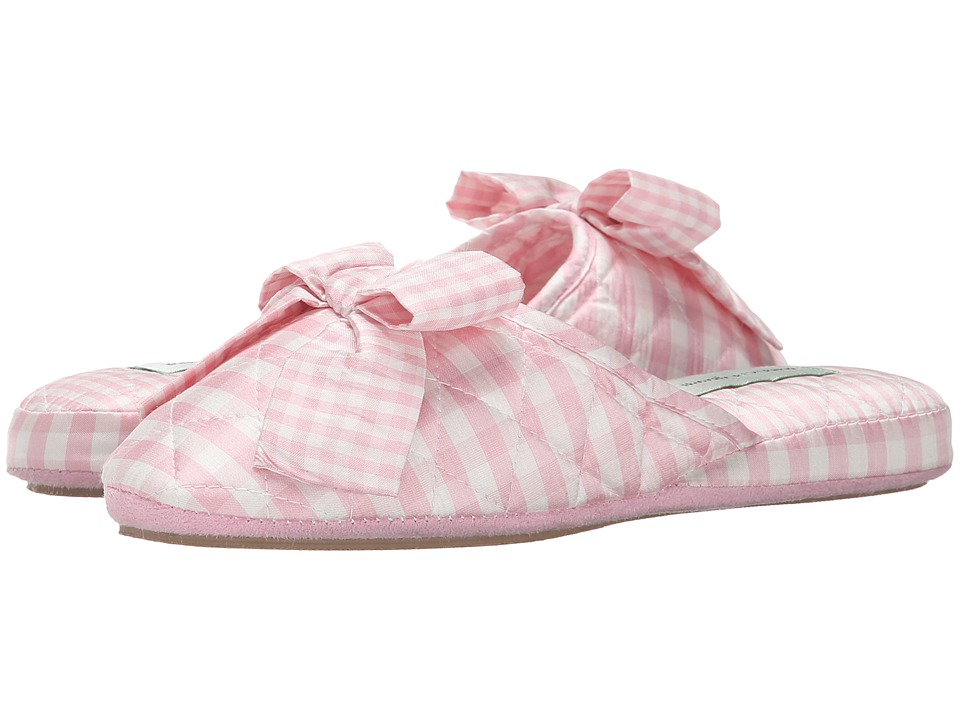 Patricia Green Silk Check (Pink 1) Slippers