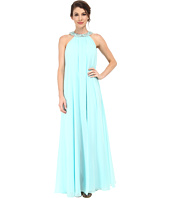 Badgley Mischka - Chiffon Halter Maxi with Necklace